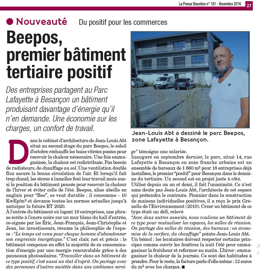 La Presse Bisontine n°181 - novembre 2016